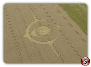 Crop circles  - Woodborough Hill in Wiltshire 2012