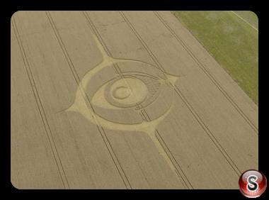Crop circles - Woodborough Hill in Wiltshire 2012
