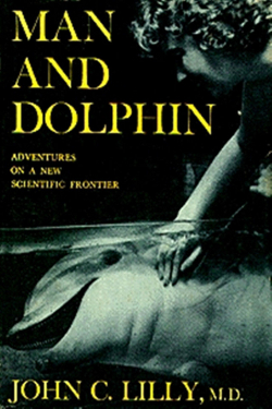 Man and dolphin by John C. Lilly