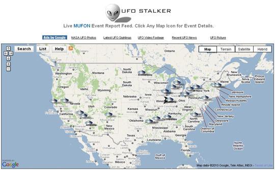 MUFON di UFO Stalker, grafica UFO relazione interfaccia