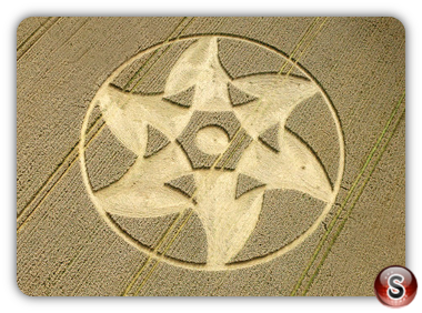 Crop circles Beckhampton, Wiltshire, UK. 2011