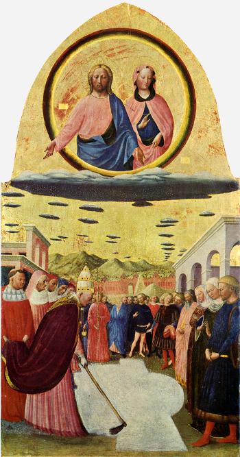 Tommaso di Cristoforo ( 1428 - 1429 ) Il miracolo della neve