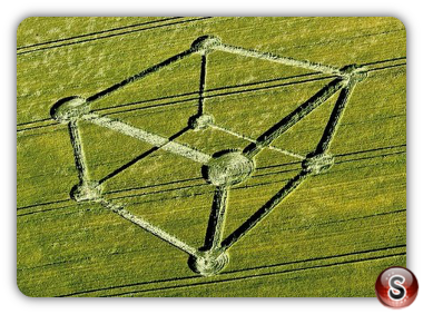 Crop circles - Chilcomb Down, nr Winchester – Hampshire  2012