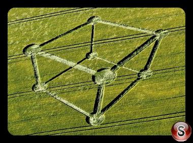 Crop circles - Chilcomb Down nr Winchester Hampshire 2012