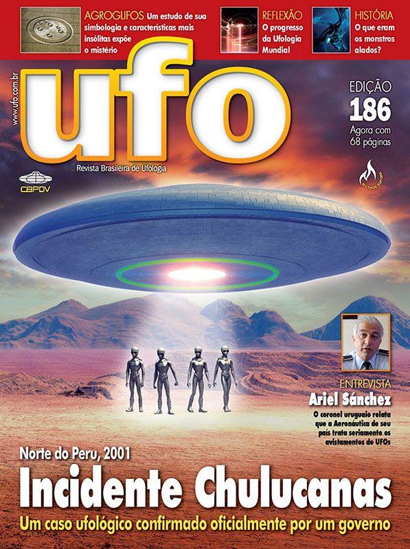 Copertina della rivista Brasiliana UFO sull'incidente di Chulucanas