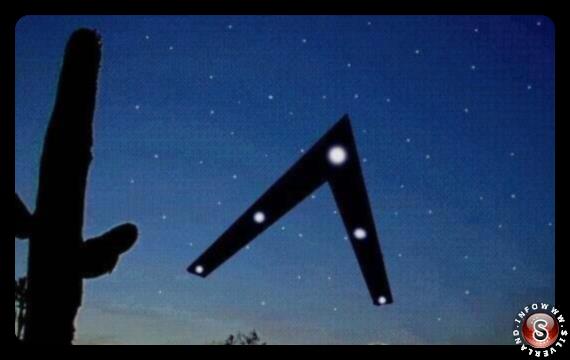 Triangolo nero - Luci di phoenix 13 Marzo 1997 - Schizzo creato dal testimone Tim Ley presente sul giornale USA Today