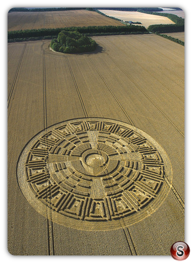 Crop circles - Wayland's Smithy, Oxfordshire 2005