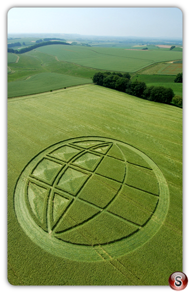 Crop circles - Abbotts Down Wiltshire 2007