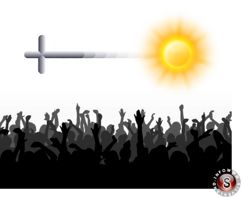 Oggetto che esce dal sole - rilelaborazione grafica Silverland