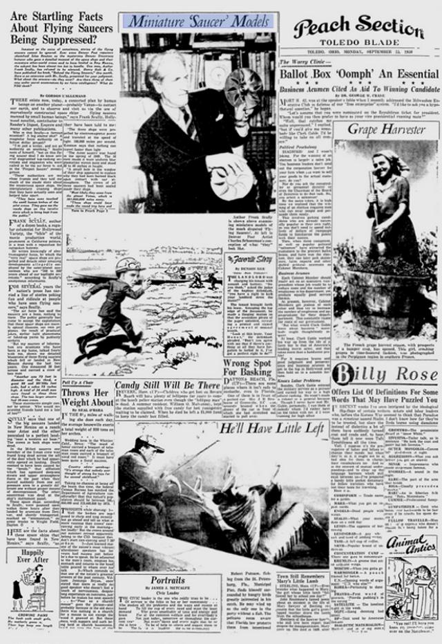 Clicca sulla foto accedere a Toledo Blade, Sept. 25, 1950