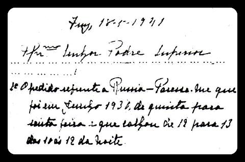 Manoscritto di Lucia nel quale dichiara che la richiesta della Madonna riguardo la consacrazione della Russia al Suo Cuore Immacolato, è avvenuta il 12 Giugno 1930.