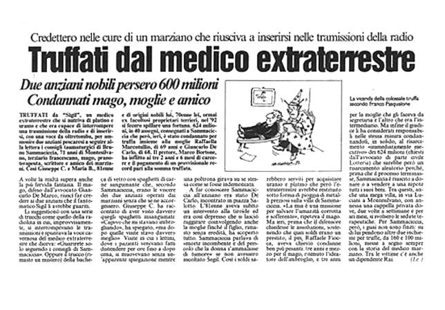 Tratto dal quotidiano IL CENTRO  del 06/11/1997
