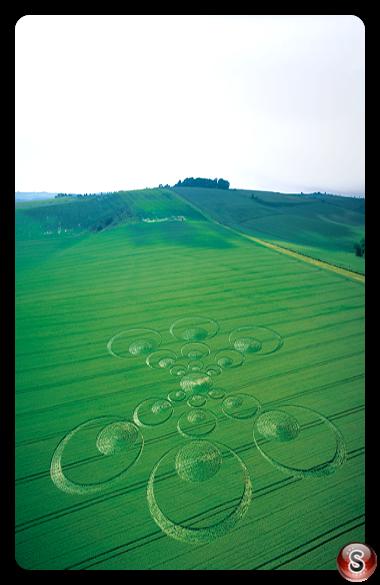 Crop circles - Ogbourne, St George, Wiltshire 2003
