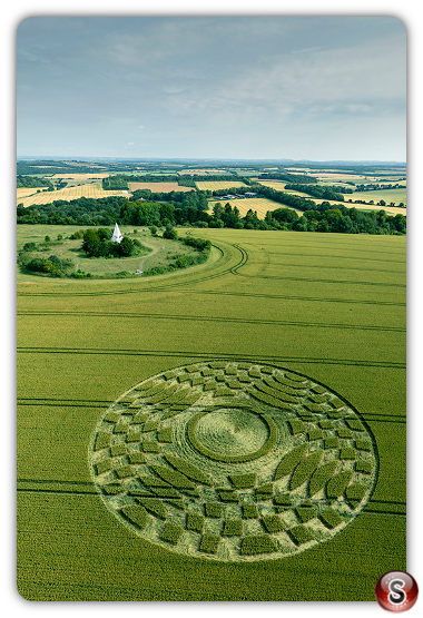 Crop circles Farley Mount - Hampshire 2019