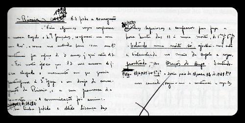 Manoscritto di Padre Goncalves