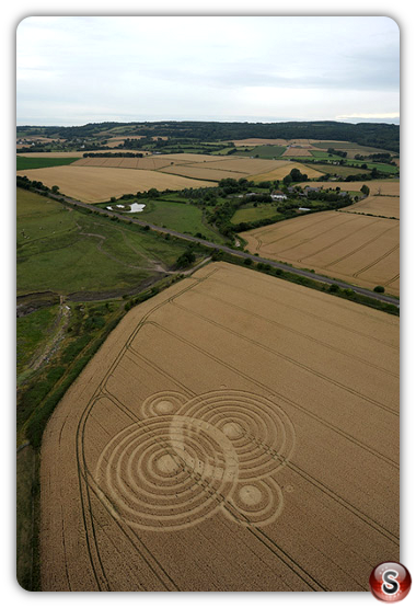 Crop circles - Woolaston Grange Gloucestershire 2010
