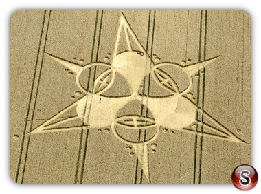 Crop circles Bridge Inn, nr Bishops Cannings - Wiltshire 2011