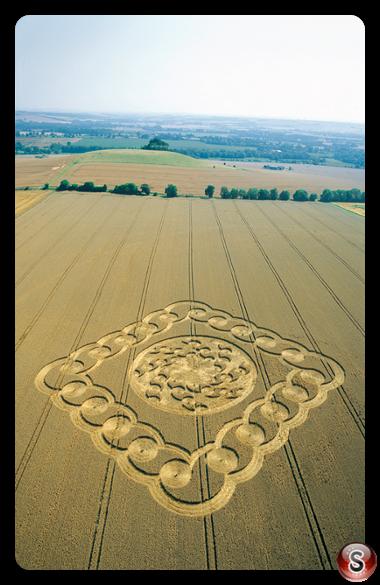 Crop circles - South Field Alton Barnes Wiltshire 2003