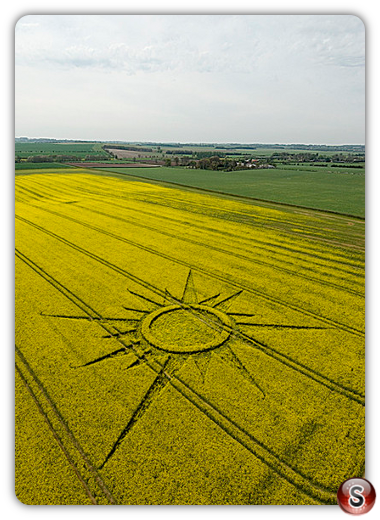 Crop circles - Avebury Rutlands Farm Wiltshire 2009