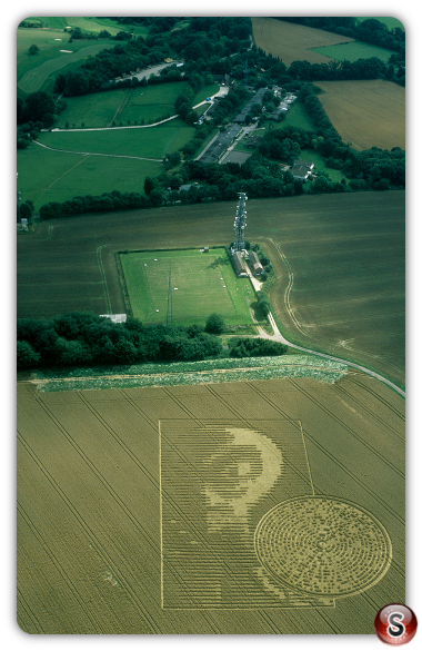 Crop circles - Sparsholt nr Winchester Hampshire 2002