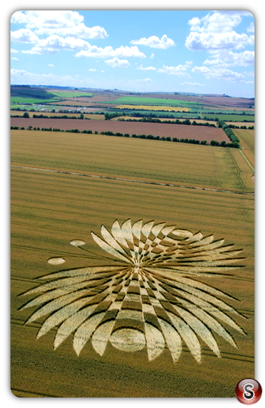 Crop circles - Hailey Wood, Ashbury, Oxon 2007