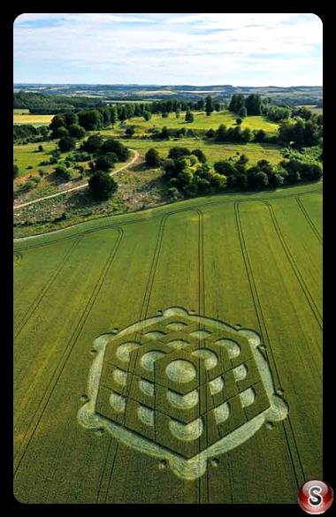 Crop circles - Danebury Hill 2010