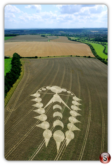 Crop circles - Ogbourne, St Andrew, Wiltshire 2009