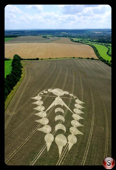Crop circles - Ogbourne St Andrew Wiltshire 2009