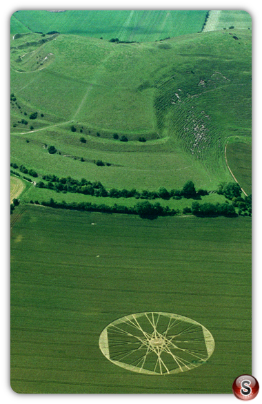 Crop circles - Cley Hill, Warminster, Wiltshire 1997