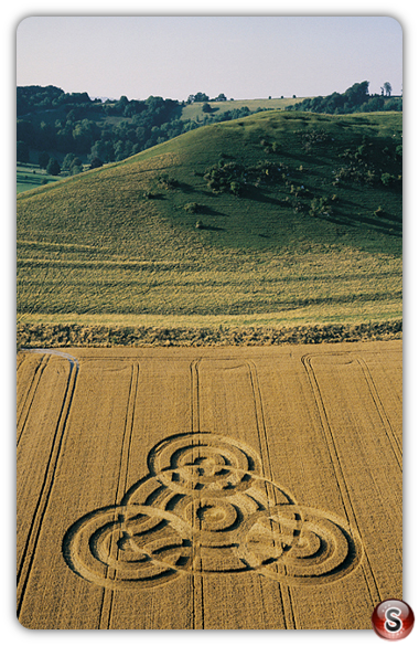 Crop circles - Giants Grave, Oare, Wiltshire 2000