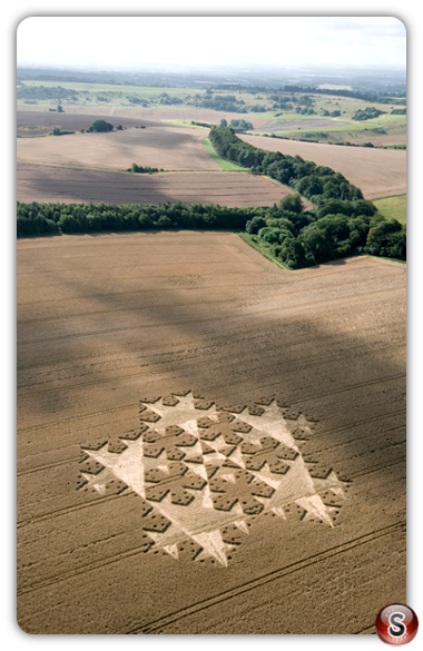 Crop circles - Chute Causeway, Nr Mount Cowdown, Wiltshire, 2007