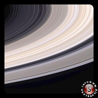 Anelli di Saturno a colori naturali