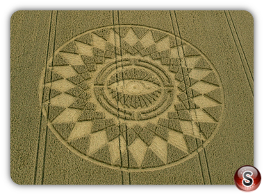 Crop circles - Nettle Hill Nr Ansty Warwickshire 2014
