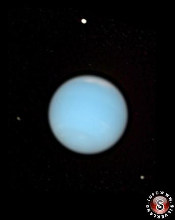 Immagine di Nettuno raccolta nel visibile dal Telescopio spaziale Hubble