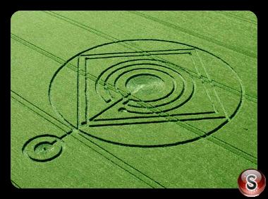 Crop circles - Hod Hill Hanford Dorset UK 2014