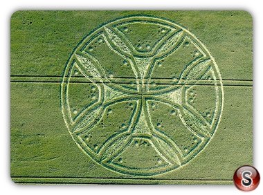 Crop circles - Westwoods, Nr Lockeridge - Wiltshire 2011