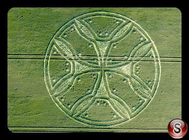 Crop circles - Westwoods Nr Lockeridge Wiltshire 2011