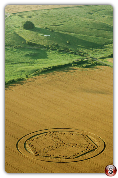 Crop circles - Hackpen Hill, Wiltshire 2012
