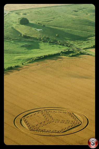 Crop circles - Hackpen Hill Wiltshire 2012