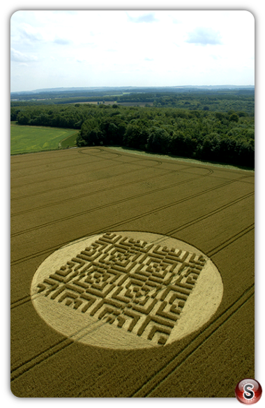 Crop circles - Forest Hill, Marlborough, Wiltshire 2004