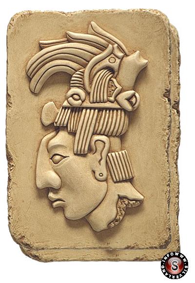 Lastra di pietra raffigurante Re Pacal