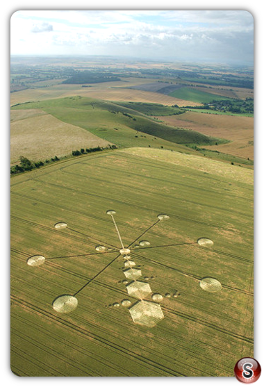Crop circles - Milk Hill, Wiltshire 2005