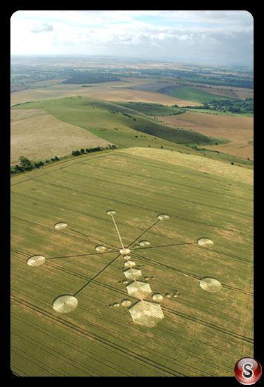 Crop circles - Milk Hill Wiltshire 2005