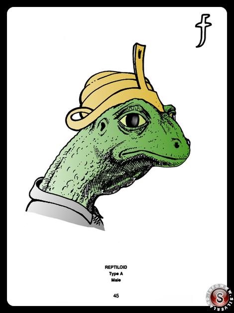 Reptiloid type A ( false colour ) - Blue Planet Project - Rielaborazione grafica Silverland