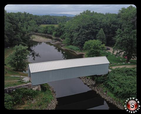 Il ponte coperto di Sheffield del Massachusetts