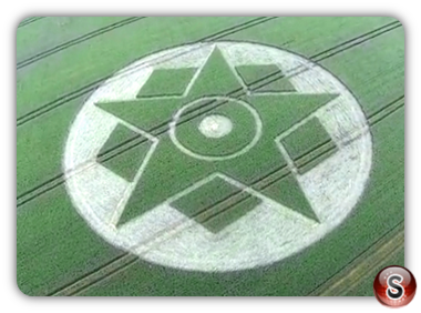Crop circles - Harewell Lane Near Besford Worcestershire 2014