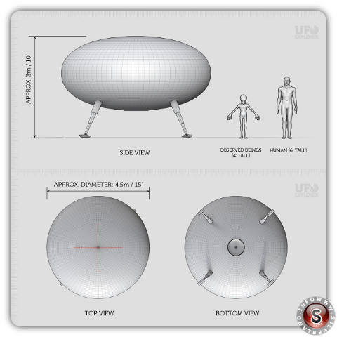 Reconstruction UFO - Lonnie Zamora by ufo-explorer.com