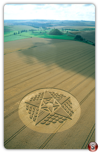 Crop circles - Silbury Hill, Wiltshire 2002