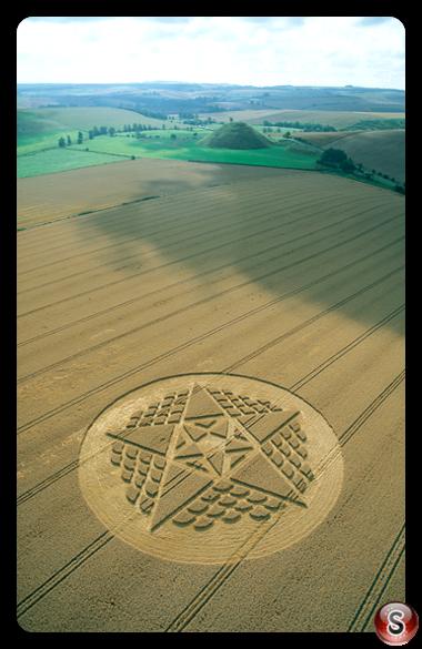 Crop circles - Silbury Hill Wiltshire 2002