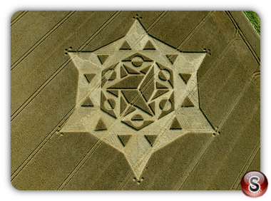 Crop circles - Olivers Castle, Wiltshire 2008
